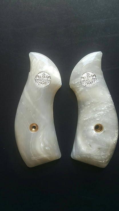 RESIN WHITE IVORY J FRAME ROUND BUTT BODYGUARD M60 SMITH /& WESSON HANDMADE GRIPS