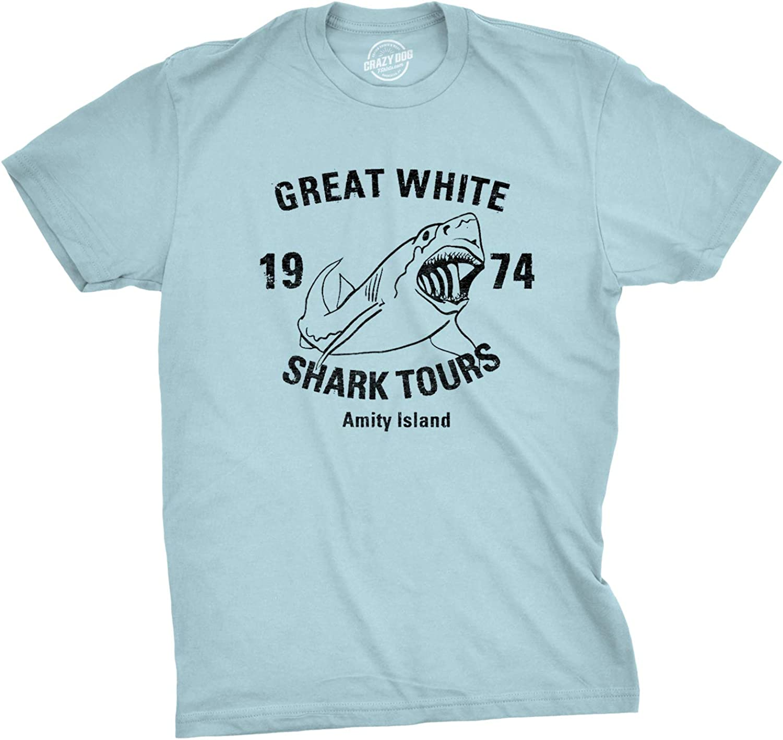 Great White Shark Tours T-Shirt Vintage Movie Boating Shirts Fishing Tees