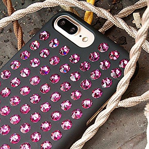 Bling My Thing ip7de de l Ev T-shirt de fus Extravaganza série Pure Luxe et design unique orné Swarovski Cristaux, Coque pour Apple iPhone 7Plus Rose Tendance