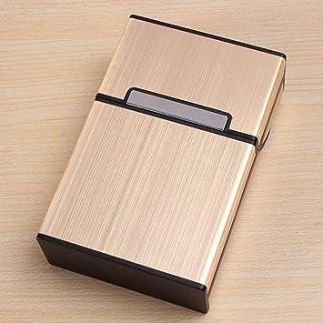 Caja Estuche de cartón, Estuche de cartón para 20 Cigarrillos Paquete, Estuche de cartón Metal, Estuches de cartón, Cigarrillos Caja Estuche de cartón para Hombre y Mujer Oro: Amazon.es: Electrónica