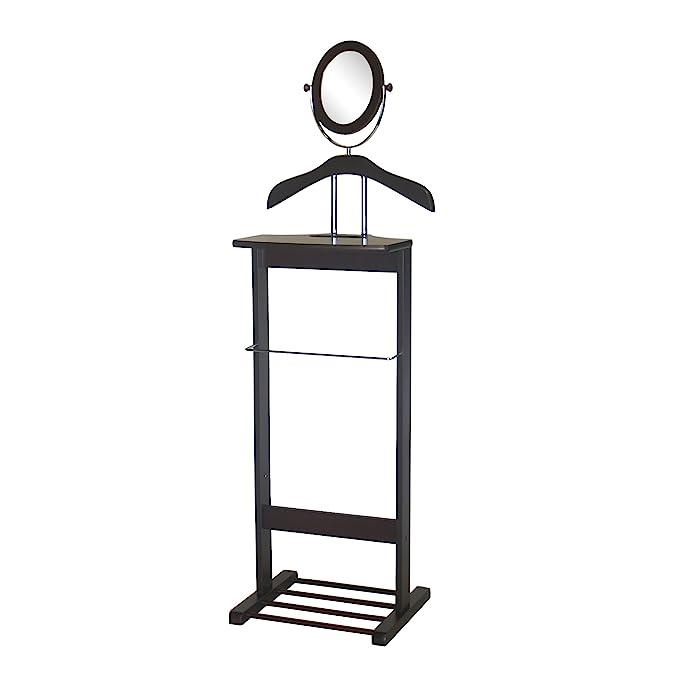 Amazon.com: Proman Trojan espejo Valet, nogal: Home & Kitchen