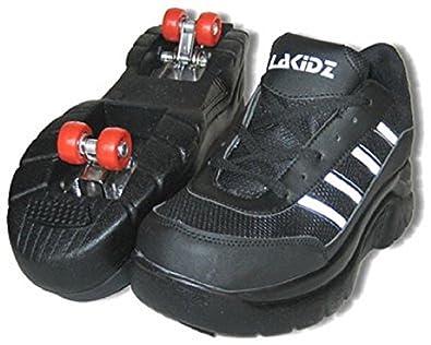 Roller Skate Sneakers >> La Kidz Double Retractable Lined 4 Wheels Roller Skates Sneakers