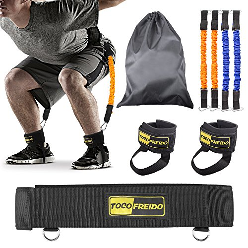 TOCO FREIDO Jump Trainer Resistance Bands Workout Sets Leg Strength Training Bounce image