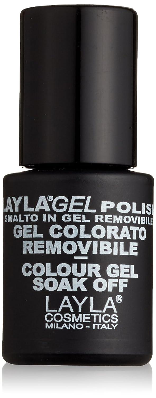 Layla Cosmetics Laylagel Polish Smalto Semipermanente per Unghie con Lampada UV, 1 Confezione da 10 ml, Tonalità Black 1641R25 17