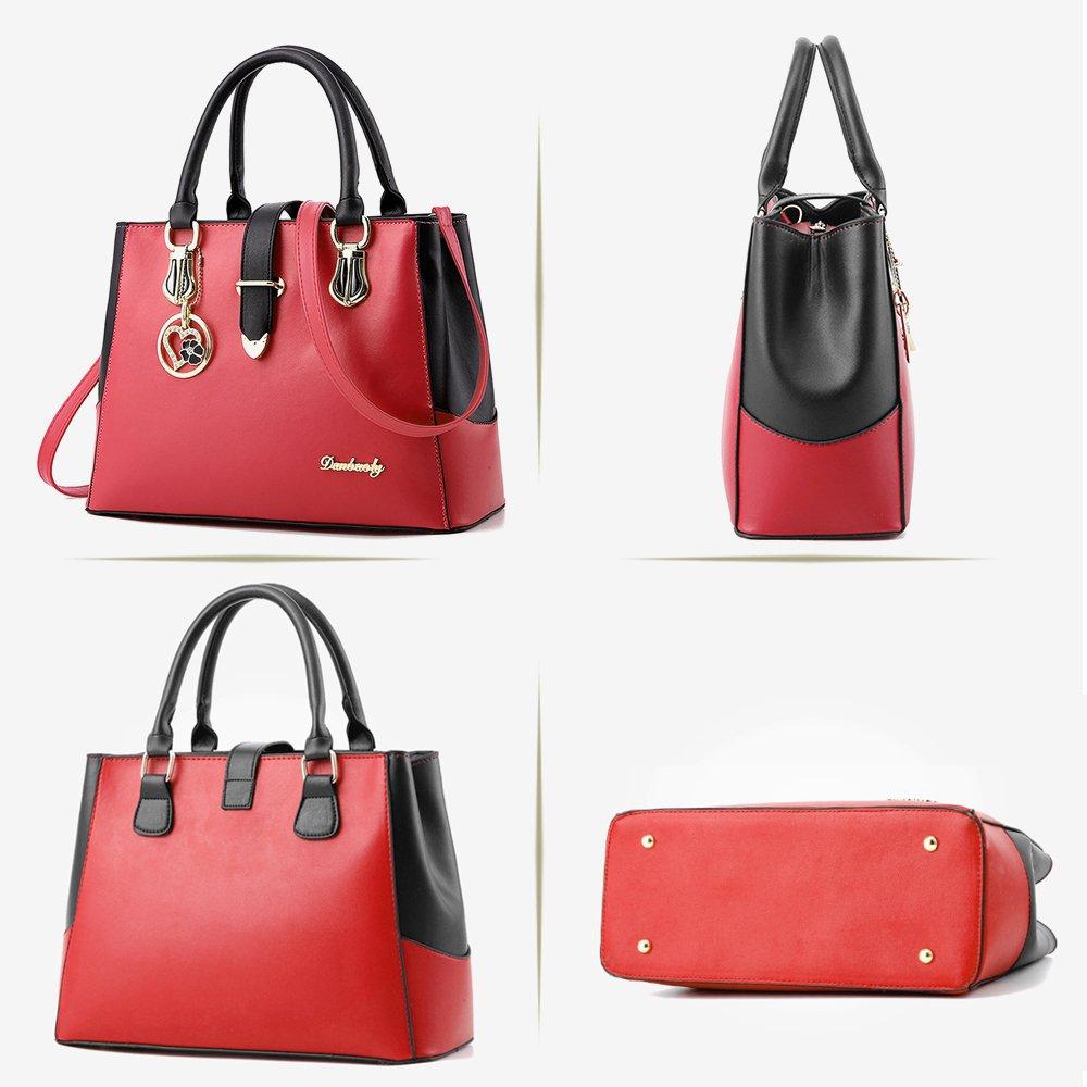 ee13c73b57eb5 BestoU Damen Handtaschen Schwarz groß taschen Leder moderne damen  handtasche gross schultertasche Frauen Umhängetasche (Blau größeres Bild