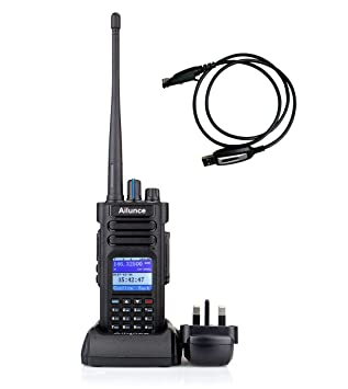 Ailunce HD1 DMR Digital Two Way Radio Dual Band FPP Amateur Radio IP67  Waterproof TDMA Compatible with MOTOTRBO DMR Radio with Programming