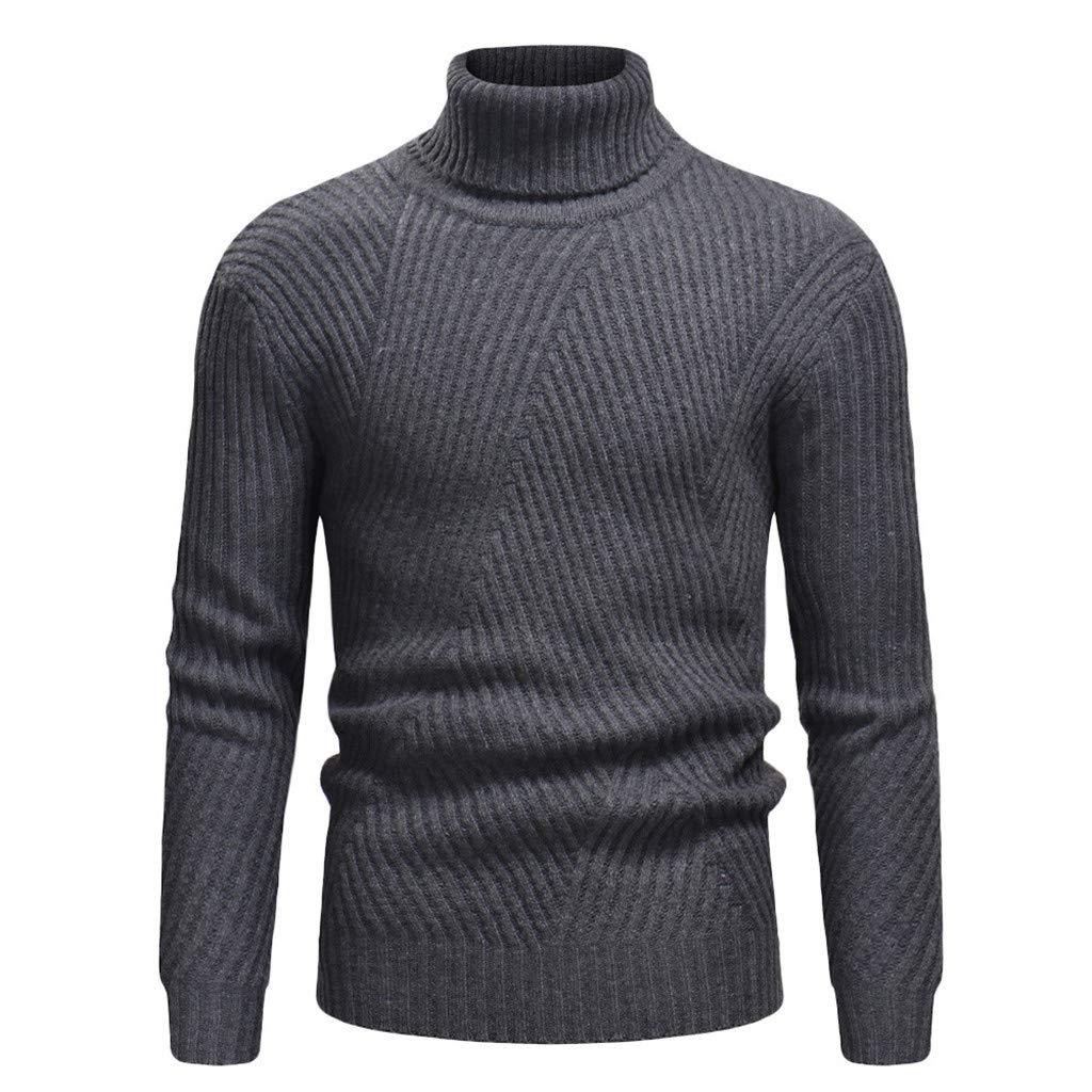 haoricu Mens Sweater, Autumn Winter Mens Elegant Long Sleeve