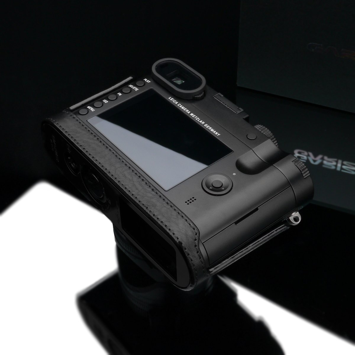 Gariz Black Label Genuine Leather BL-LCQBK Half Case for Leica Q Type 116, Black