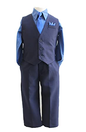 a46bc2029 Amazon.com  Boys Navy blue solid vest set with Matching Tie and ...