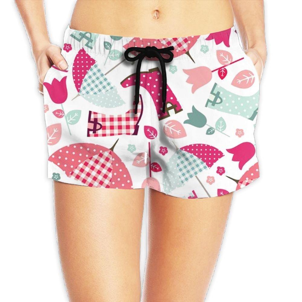Women's Casual Yoga Workout Elastic Drawstring Waistband Umbrella Boots Summer Shorts