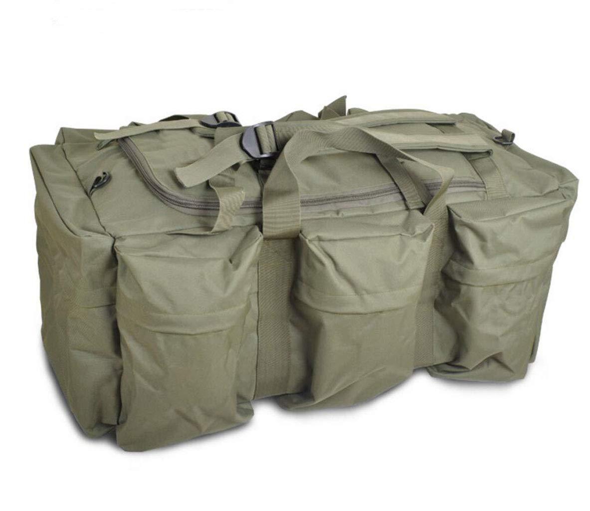 FEIYUESS Outdoor-Bergsteigen Tasche 70L Reise-Camping-Tasche Camouflage Schwarz