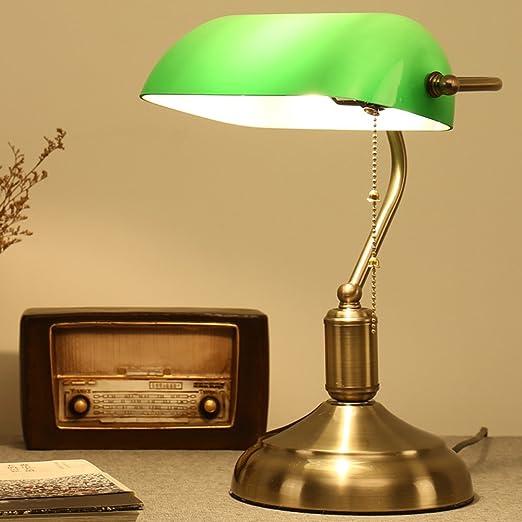 XSPWXN Lámpara de mesa retra americana con el interruptor de tirón ...
