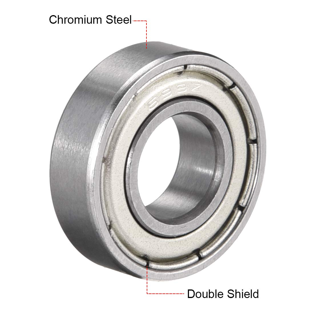 sourcing map 693ZZ Deep Groove Ball Bearing Double Shield 693-2Z 2080093 Pack of 4 3mm x 8mm x 4mm Carbon Steel Bearings