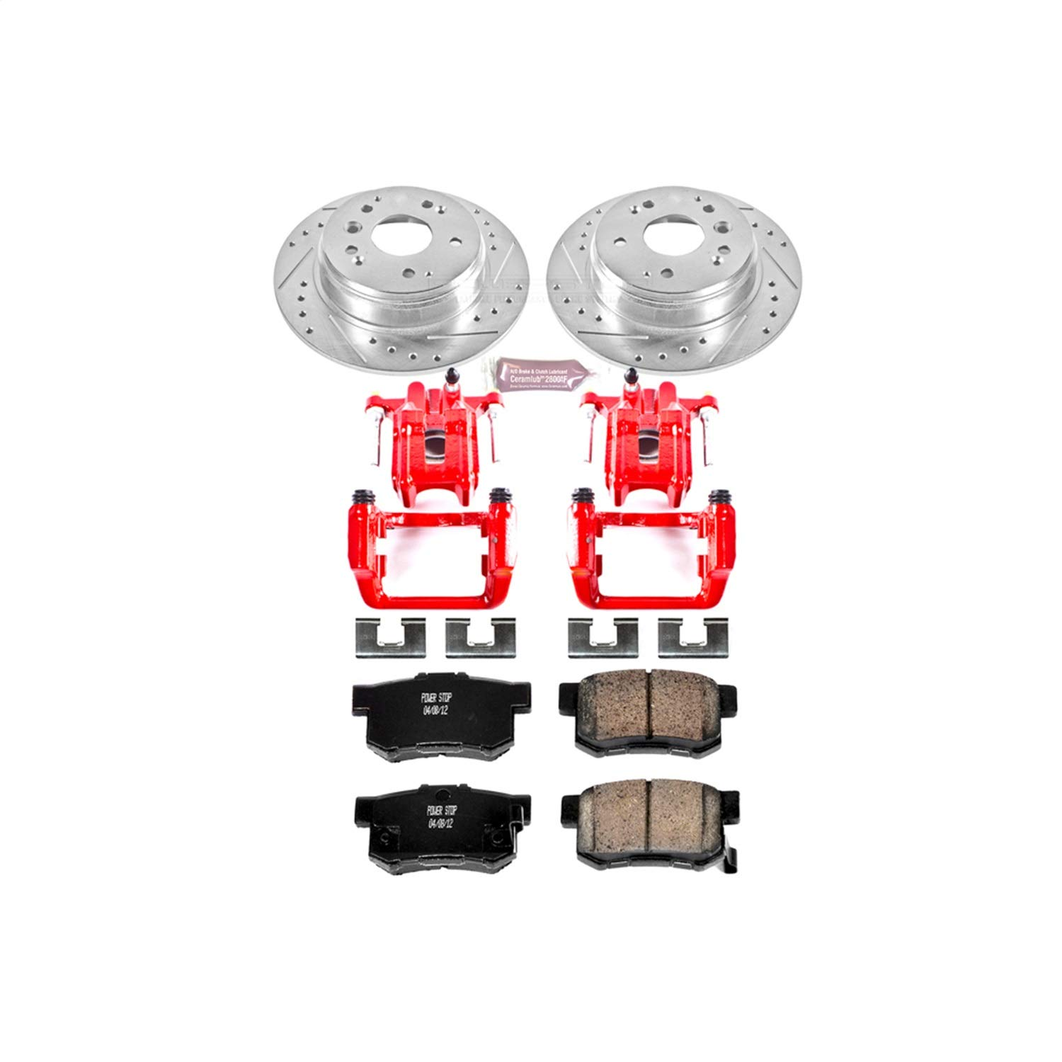 Power Stop KC2434 1-Click Performance Brake Kit with Calipers, Rear Only by POWERSTOP