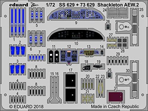 エデュアルド 1/72 アブロ シャクルトン AEW.2 コックピット内装 エッチングパーツ (エアフィックス用) プラモデル用パーツ EDU73629