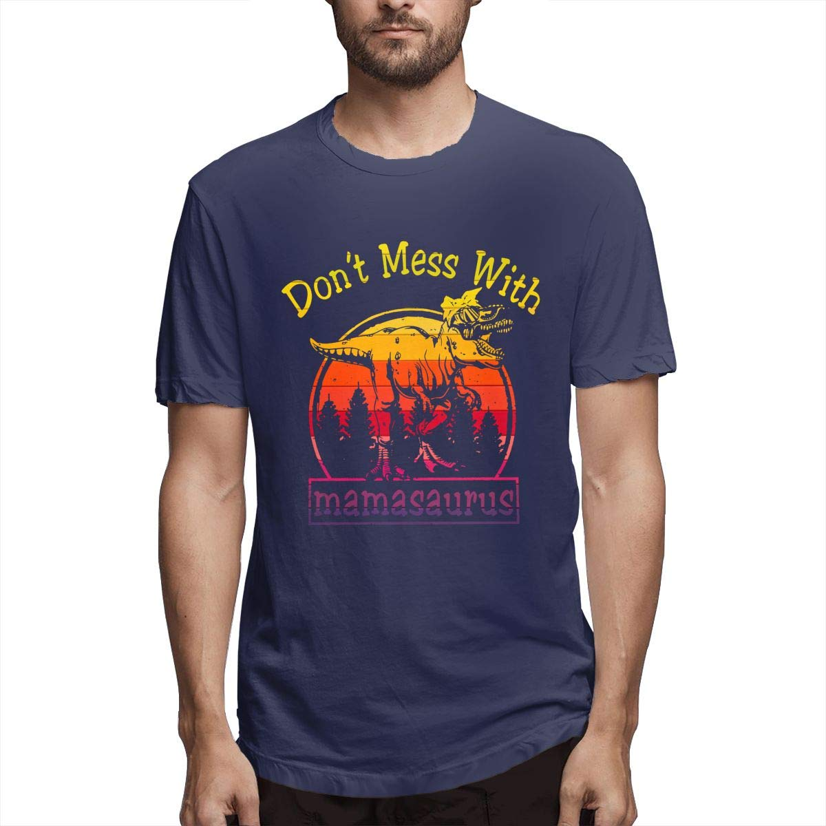 Dont Mess With Mamasaurus Retro Vintage Shirt Navy
