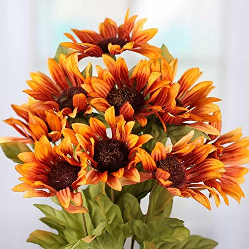 Gold Sunflower Seed - Factory Direct Craft® Artificial Brown and Gold Indian Blanket Sunflower Floral Bush for Arranging and Crafting