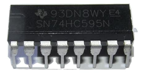5PCS X MM74HC595N IC REGISTER W//LATCH 8BIT 16-DIP Fairchild