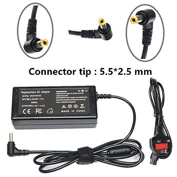Amazon.com: 65W AC Adaptador / Cargador de batería para Acer ...