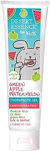 Desert Essence Floride-Free Gel Toothpaste for Kid's - 4.7oz - Green Apple Watermelon - Gluten and SLS Free - Great Taste - Children 6 Monthes to 6 Years