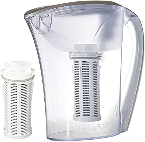 Clear2o GRP200 Advanced Gravity Water Filter Pitcher System 2 Filters Included