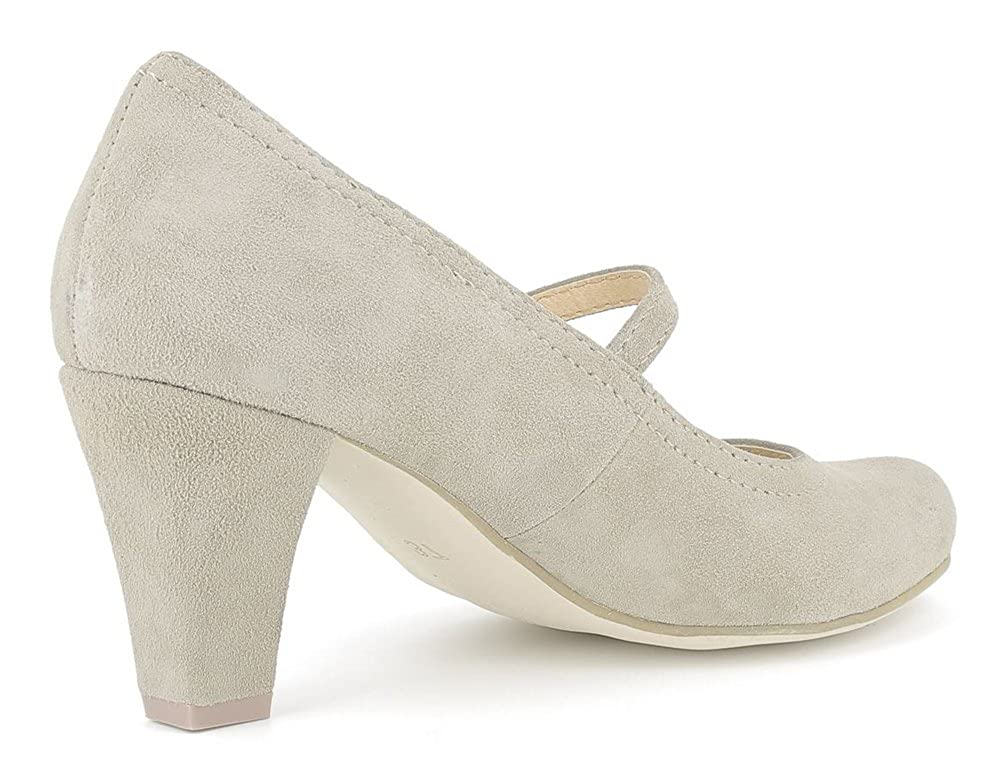 Andrea Conti Hirschkogel by 3591505 - Damen Pumps Taupe mit Riemchen - Taupe Taupe Pumps a7ff98