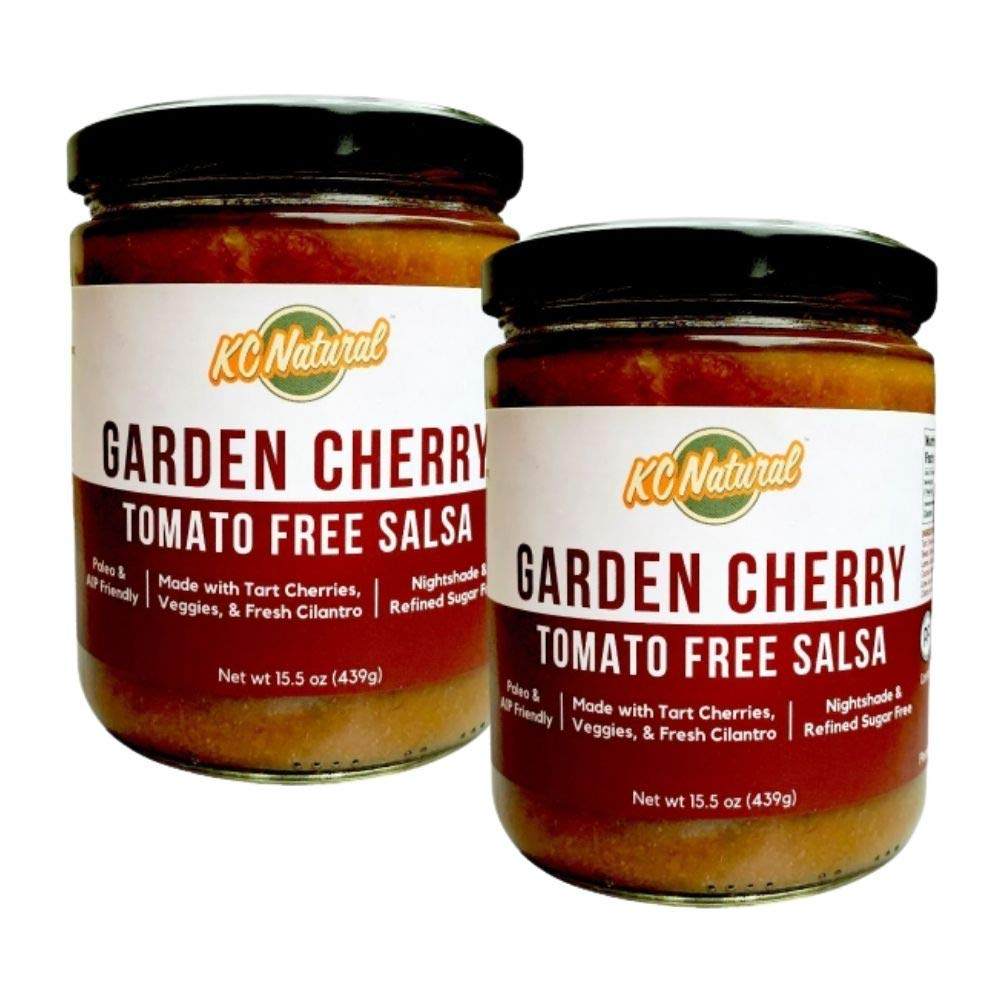 KC Natural - Garden Cherry Tomato Free Salsa - Nightshade Free - Paleo and AIP Friendly - 15.5 oz