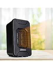 ARINO Stufe Elettriche Stufetta Elettrica Mini Riscaldatore Portatile Termoventilatore Riscaldamento Elettrico a Ventilatore a Basso Consumo 500W per Scrivania Bagno Ufficio Casa