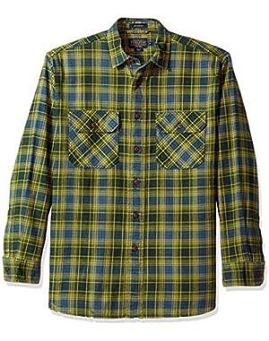 Men's Long Sleeve Button Front Burnside Shirt