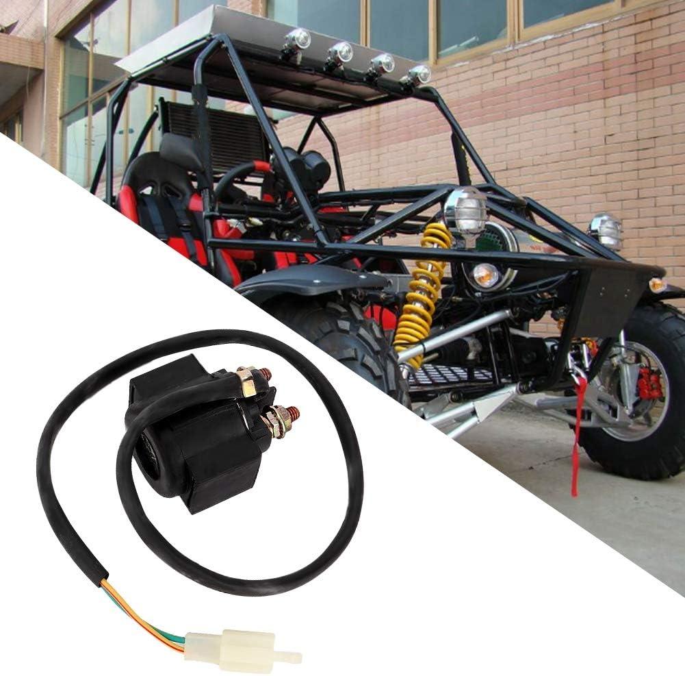 Qii lu rel/é de arranque del solenoide 50cc 125cc rel/é de arranque del solenoide para ATV Karts 12V Scooter