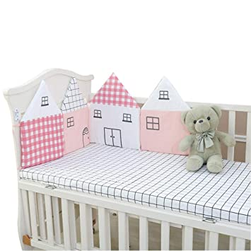 Amazon.com: 4 almohadillas protectoras para cuna de bebé ...
