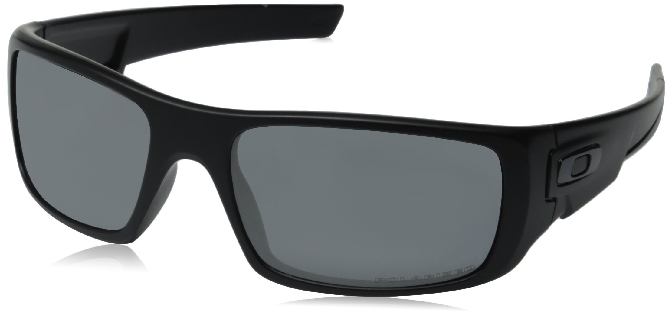 Oakley Men's OO9239 Crankshaft Rectangular Sunglasses, Matte Black/Black Iridium Polarized, 60 mm