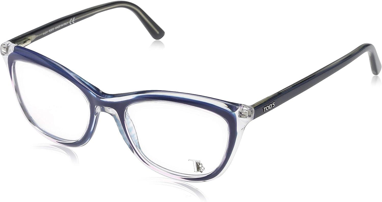 Blau TODS Tod/'S Brillengestelle TO5137 Rechteckig Brillengestelle 51