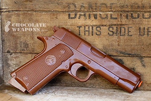 Chocolate Gun - Full Size Solid Chocolate Pistol with Case Mature Weapons