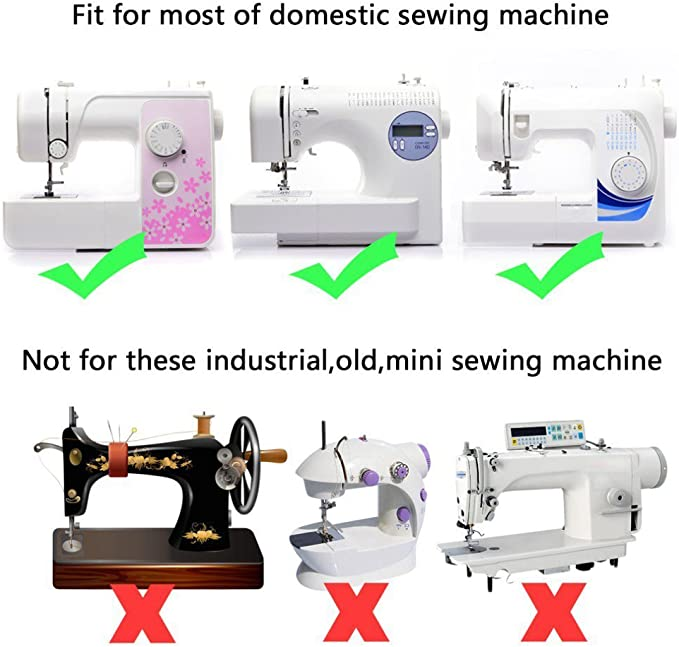 Clip on // off DOMESTIC BROTHER SEWING MACHINE APPLIQUE FOOT