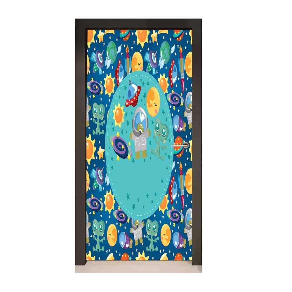 Amazon Com Homesonne Kids Party 3d Door Wallpaper Colorful
