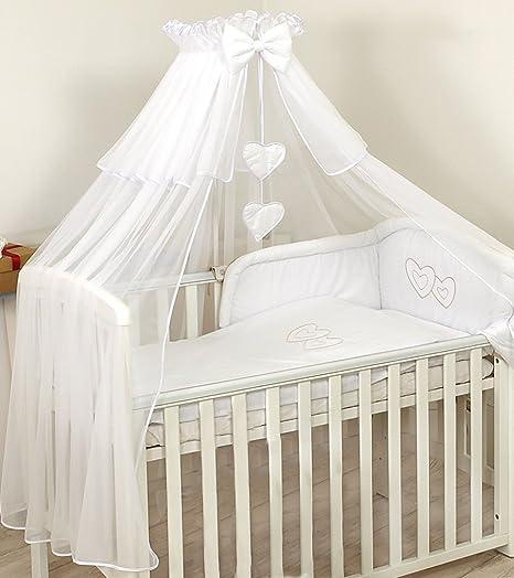 PRO COSMO DE LUJO Dosel- Mosquitera para cuna de bebé + soporte para dosel, Blanco