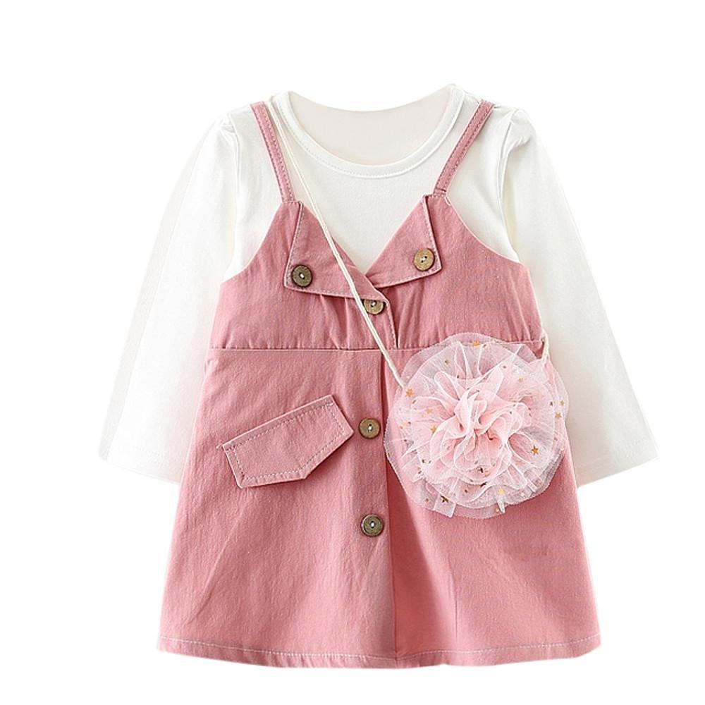 Tpulling Bébé Filles vêtements Princess Party Robes de Concours [ Filles Manches Longues Robes ] Occasion: occasionnel quotidien