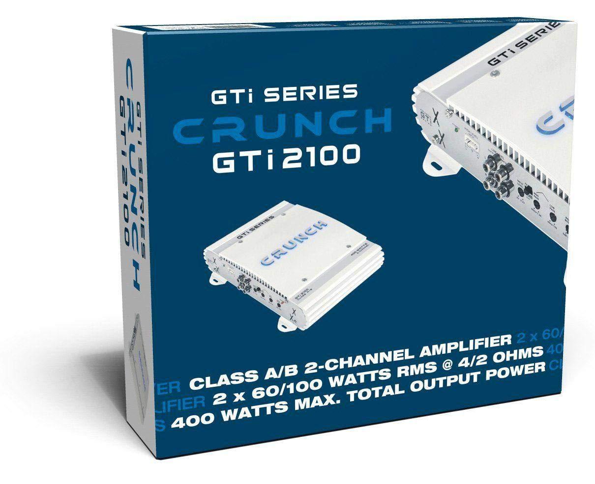 200 W, A//B, 0-12 dB, 100 W, 400 W, 200 W Crunch GTi2100 Car Wired Audioverst/ärker wei/ß
