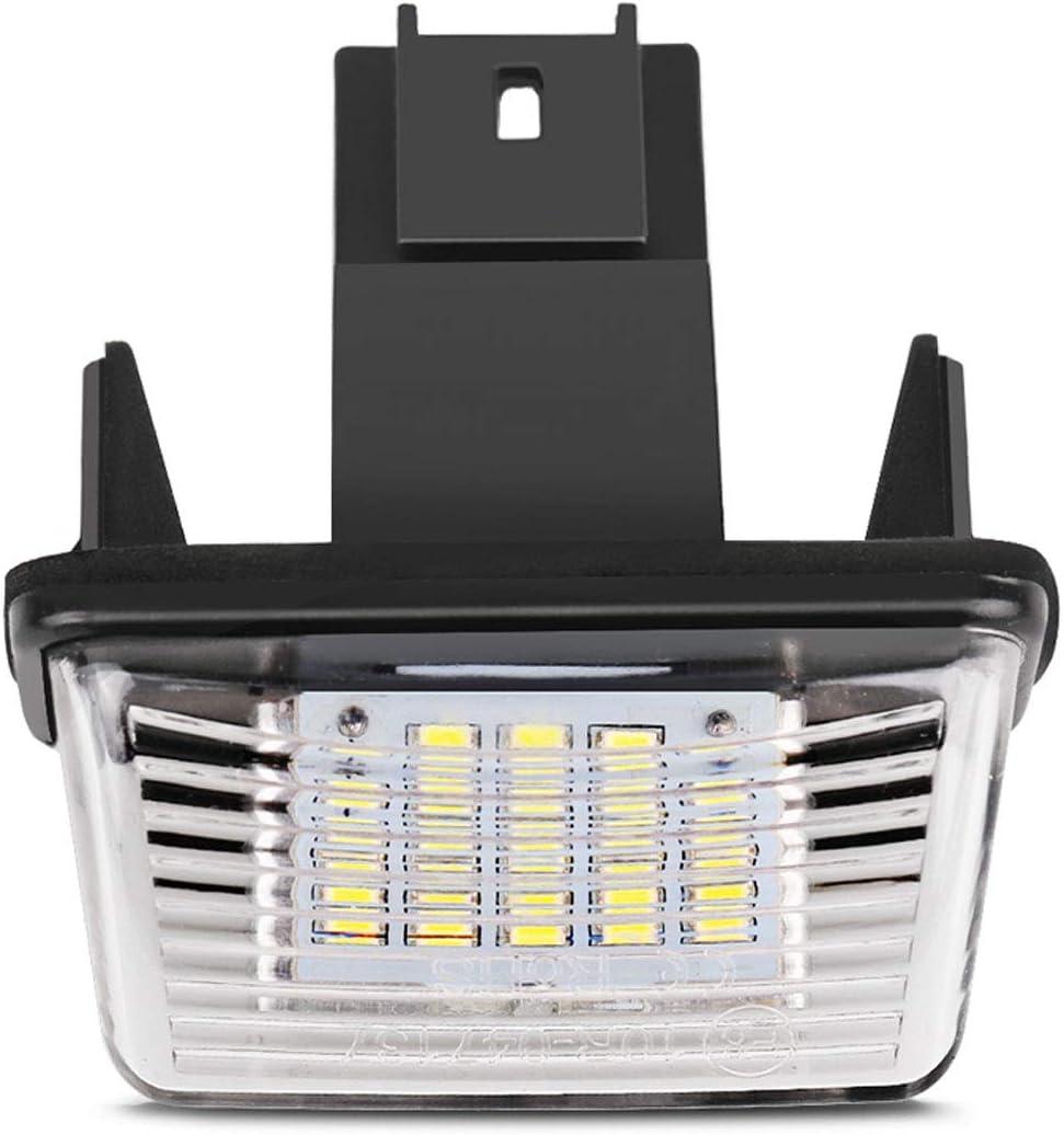 MuChangZi 2 Unids N/úmero de LED Luz de Placa de Matr/ícula Luz Trasera Sin Error para P//eugeot 206 207 306 307 para C//itroen C3 C4 C5 Car Styling