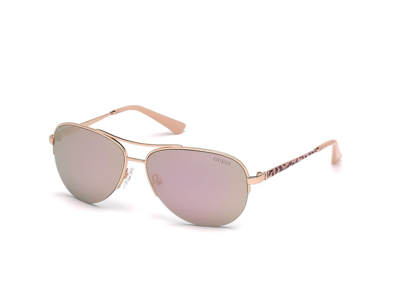 88ba5ac09ca Amazon.com  GUESS Women s Gu7468 Aviator Sunglasses