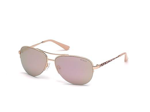 bf9f3a1a42 Amazon.com  GUESS Women s Gu7468 Aviator Sunglasses
