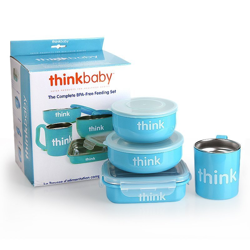 $44.99 Thinkbaby Thinksport Blue Feeding Set, Blue