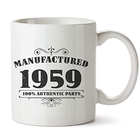 Novedad impreso tazas fabricado 1958 60th cumpleaños taza de ...