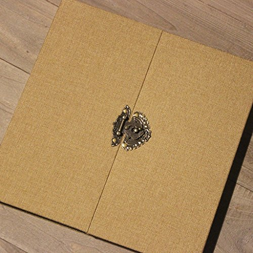 Photo Albums TYJY With Double Cover, Self-adhesive Coated Inner Pages, Retro DIY Handmade Scrapbook,20 pages (40 surface) (Color : B-Black card, Size : Small) by Photo Albums