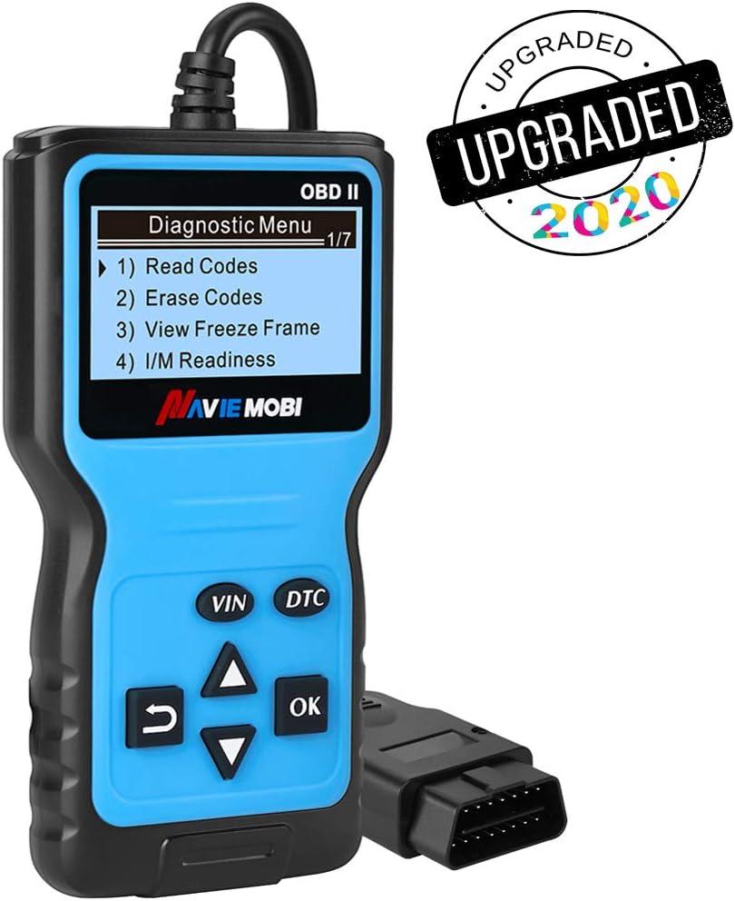Navie Mobi Escáner OBD2 Coche Profesional Lector de Códigos de Fallo Herramienta de Diagnóstico del Motor OBD Scanner para Auto Protocolos OBD II Modos EOBD Can,Azul