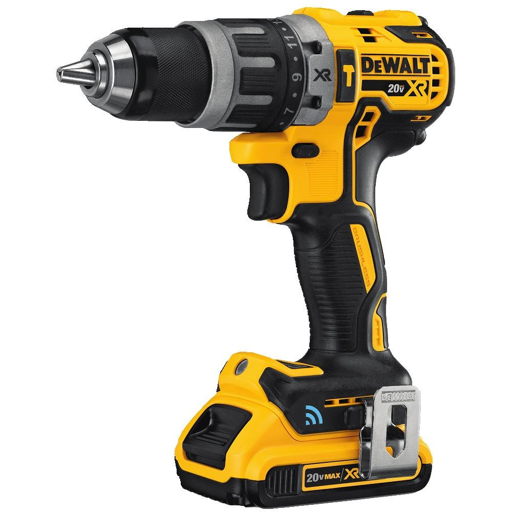 DEWALT 20V MAX XR Hammer Drill Kit, Tool Connect Bluetooth DCD797D2
