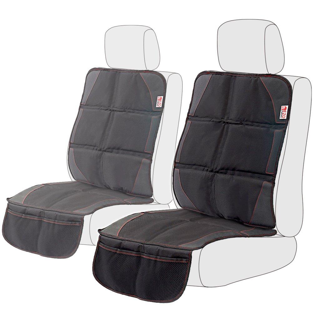 Sitzschoner 2er-Pack, EZOWare Auto-Sitzschonbezug Sitzbezug Schutzunterlage Auflage mit Netztasche - Schwarz 885157979887