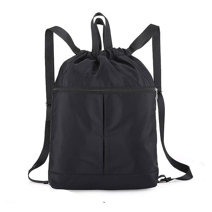 968edfa8c786 Waterproof Drawstring Bag,lightweight Gym Sackpack Sport backpack for Men  and Women