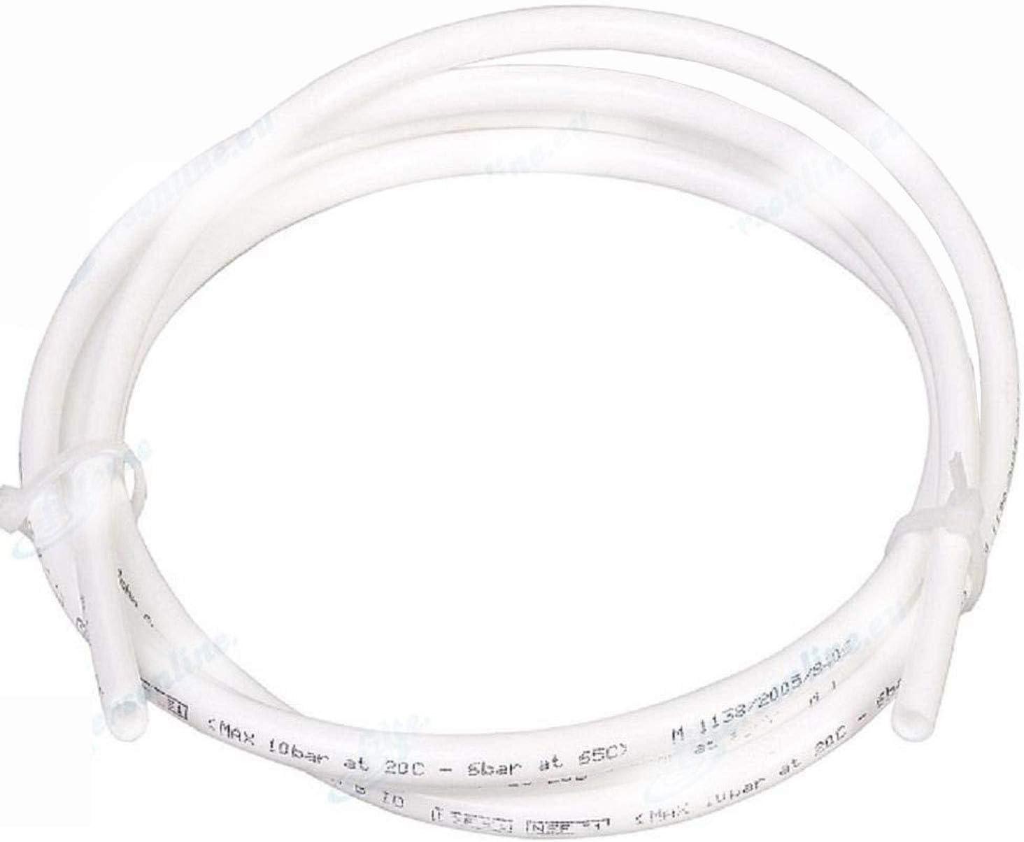 Aqualogis Tubo de agua blanco 1/4, (6.35mm) 10 m, para sistemas de ósmosis inversa, refrigeradores, máquinas de café espresso, máquinas expendedoras, y filtros de agua.
